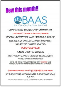 Social and life-skills evening with drop in chat! @ Thicketford autism centre